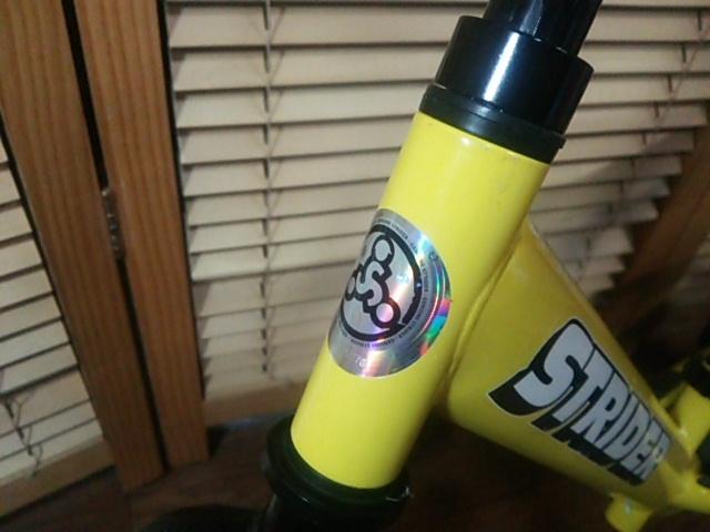 室内保管品 程度良好 ストライダー バランスバイク トレーニング自転車 イエロー 黄色_画像7