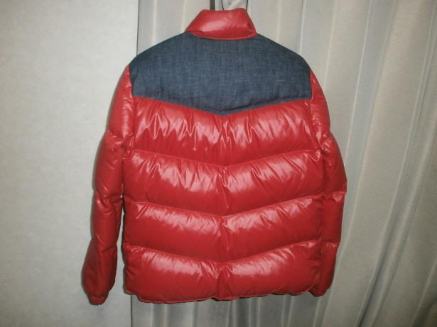 レア Levi's リーバイス 70830 ダウン ジャケット サイズ M 赤 ナイロン × 生デニム ダウン80% フェザー20%_画像2