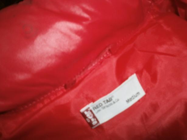 レア Levi's リーバイス 70830 ダウン ジャケット サイズ M 赤 ナイロン × 生デニム ダウン80% フェザー20%_画像4