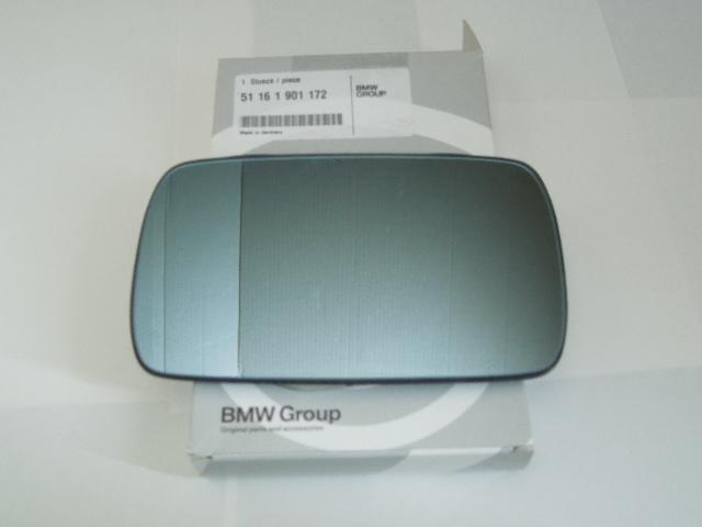 E30(318~M3)他(E21,E12,E28,E23)用ドアミラーレンズ(ガラス鏡)5116 1 901 172 BMW純正新品_画像1