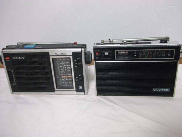 レトロラジオ SONY/ナショナル/東芝/ビクター/NEC などいろいろ13台セット_画像3
