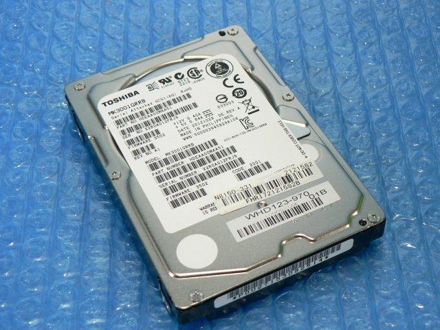 1BWM // NEC N8150-331 300GB 2.5インチ SAS 15K(15000)rpm 6Gb (TOSHIBA MK3001GRRB) // NEC Express5800/R110e-1E 取外 // 在庫3_画像1