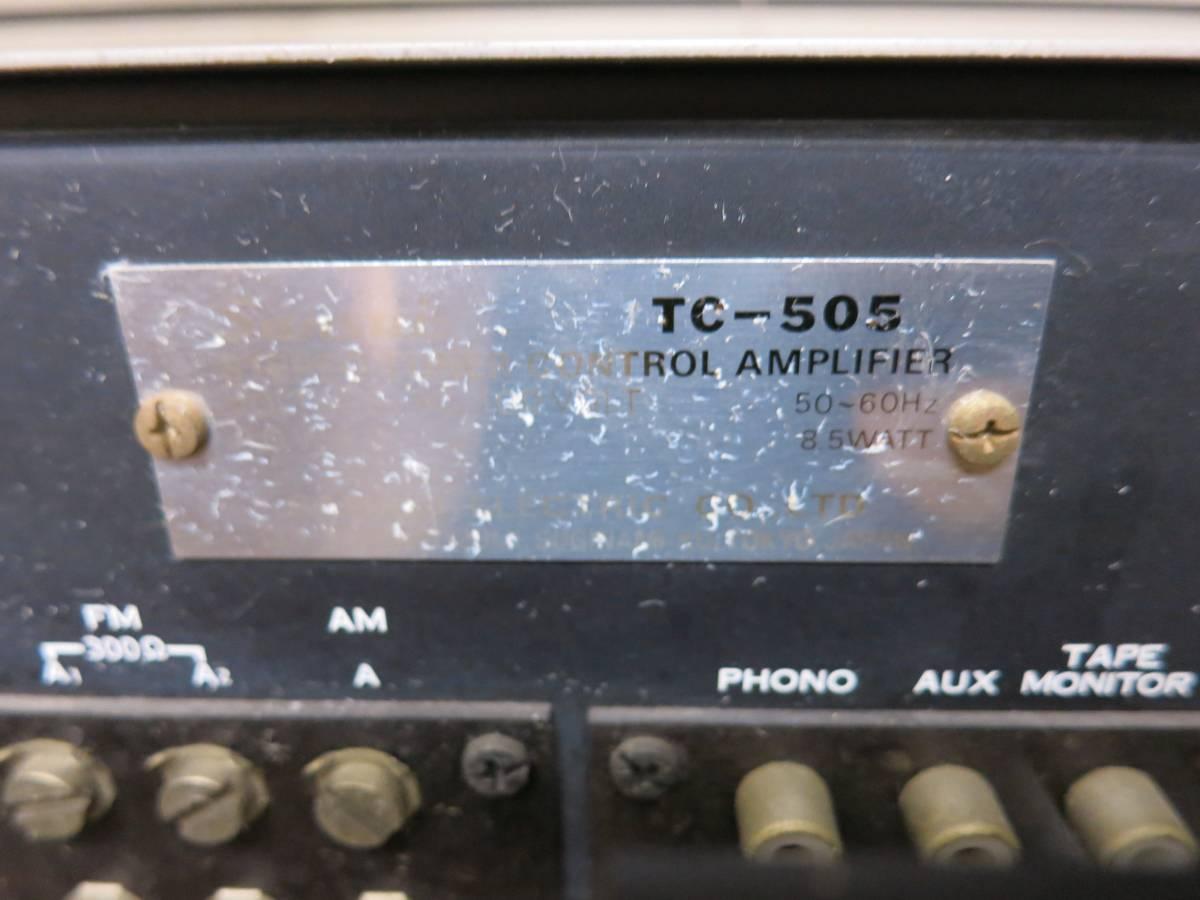 『ジャンク』 Sansui サンスイ TC-505 ステレオチューナーコントロールアンプレイヤー_画像5