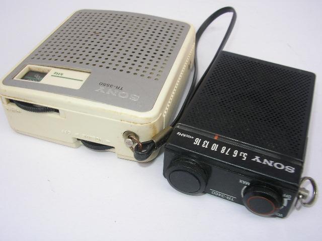 ☆古いラジオ2台 SONY TR-3460 TR-3550_画像4