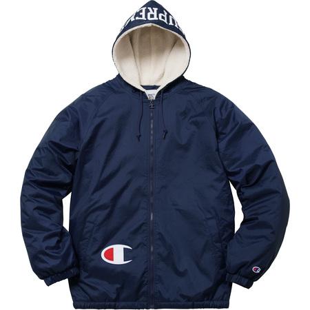 [国内正規] Supreme Champion Sherpa Lined Hooded Jacket チャンピオン コラボ ジャケッ