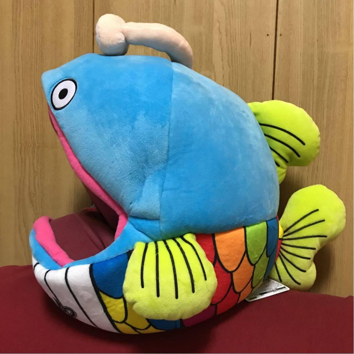千葉ロッテマリーンズ★メガジャンボぬいぐるみ★謎の魚★ロッテ_画像2
