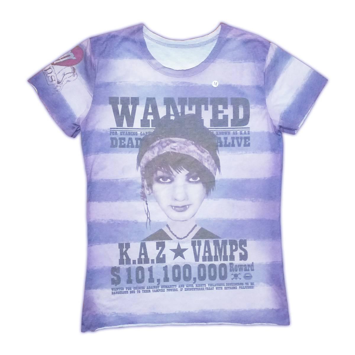 新品レア*VAMPS K.A.Z WANTED Tシャツ*Mサイズ*2013年*Oblivion Dust、L'Arc~en~Ciel、ラルク、hyde♪
