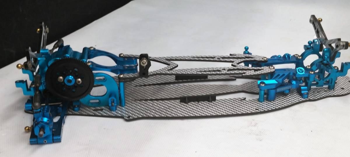 ジャンク オーバードーズ部品多数 TECH Racing タミヤTA06用 ドリフトスペックコンバージョン シルバーカーボン仕様_画像2