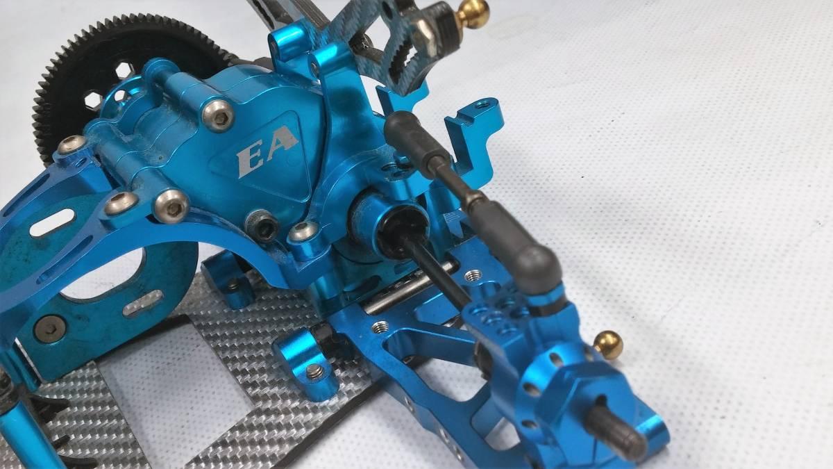 ジャンク オーバードーズ部品多数 TECH Racing タミヤTA06用 ドリフトスペックコンバージョン シルバーカーボン仕様_画像9