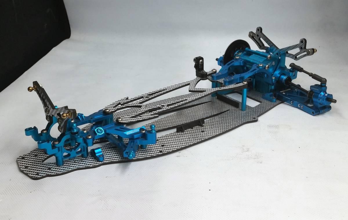 ジャンク オーバードーズ部品多数 TECH Racing タミヤTA06用 ドリフトスペックコンバージョン シルバーカーボン仕様