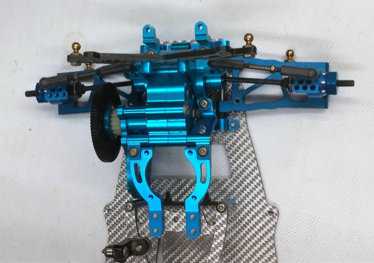 ジャンク オーバードーズ部品多数 TECH Racing タミヤTA06用 ドリフトスペックコンバージョン シルバーカーボン仕様_画像8