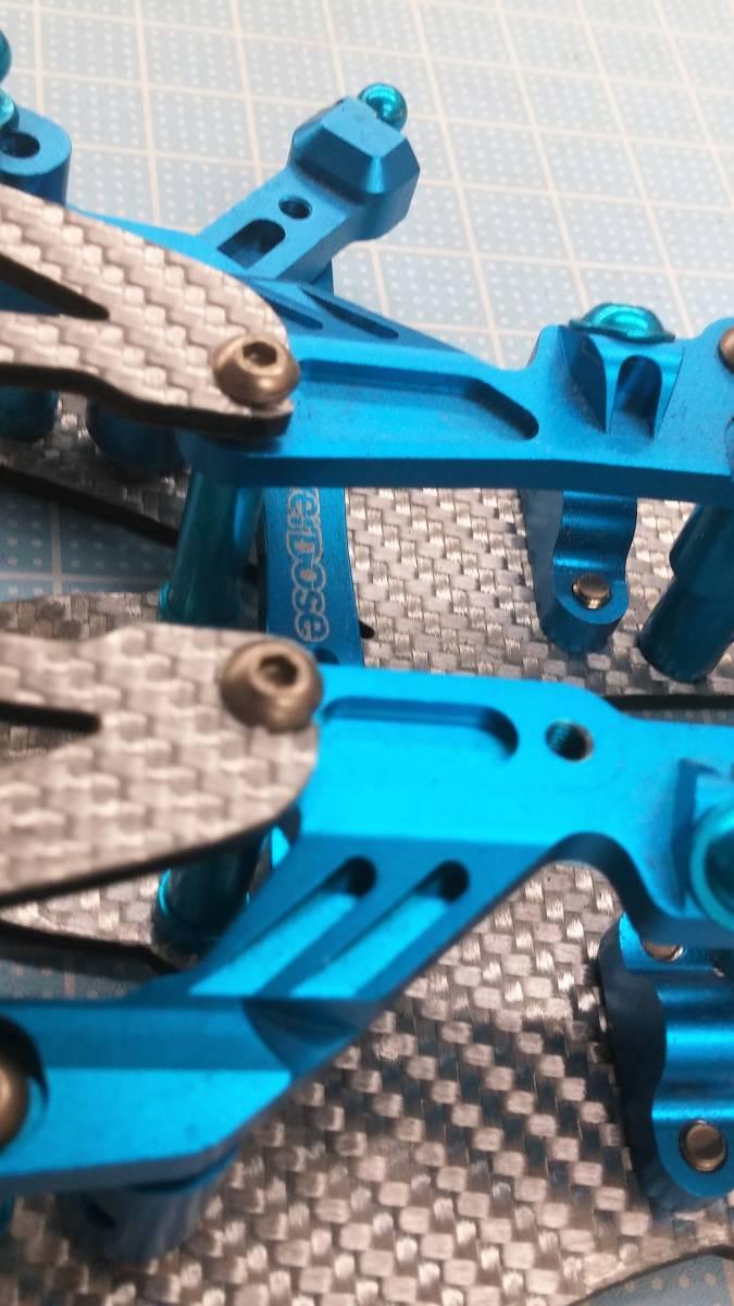 ジャンク オーバードーズ部品多数 TECH Racing タミヤTA06用 ドリフトスペックコンバージョン シルバーカーボン仕様_画像7