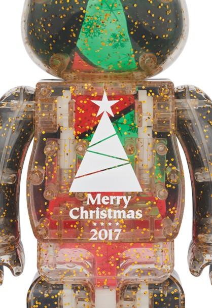 即決★2017 クリスマス ベアブリック 100% & 400%セット【ステンドグラスツリーVer.2】2017 Xmas BE@RBRICK Stained-glass tree Ver.2_画像3