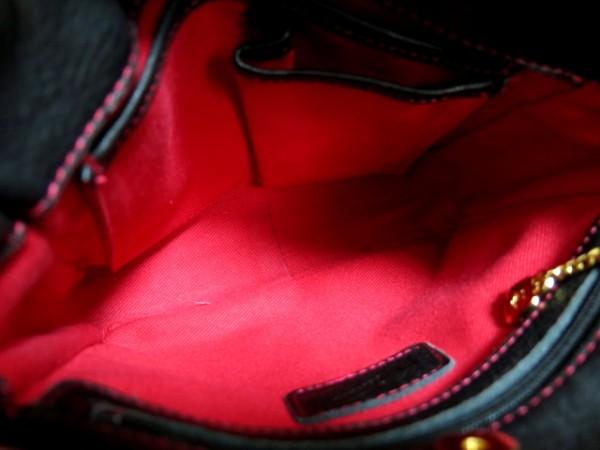 ●未使用●Kitamura キタムラ●THE ALFEE アルフィー 高見沢 taKamiy タカミー コラボ レザー 革 ハンド バッグ●黒 ブラック 赤●シンプル_画像3