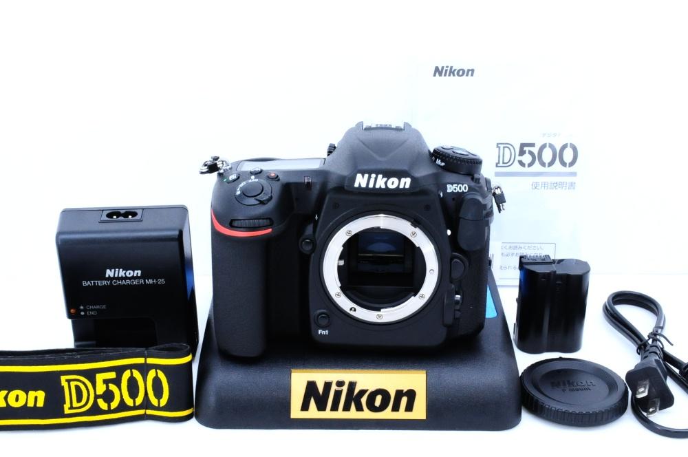 ★新品級★NIKON ニコン D500 ボディ ショット数1000台!液晶保護シート装着済の納得コン