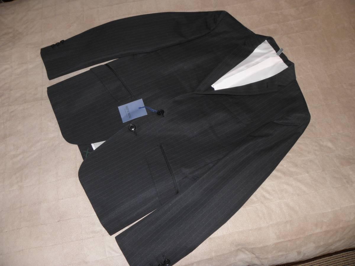 912 ミツミネ 黒のジャケット 細いストライプ 31500円★新品タグ付き M _画像1