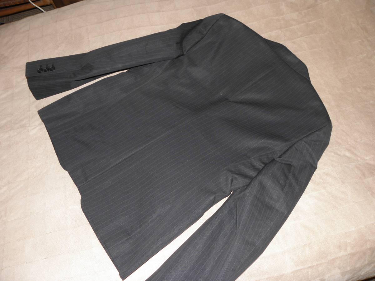 912 ミツミネ 黒のジャケット 細いストライプ 31500円★新品タグ付き M _画像4