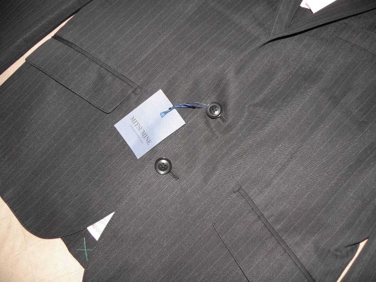 912 ミツミネ 黒のジャケット 細いストライプ 31500円★新品タグ付き M _画像3