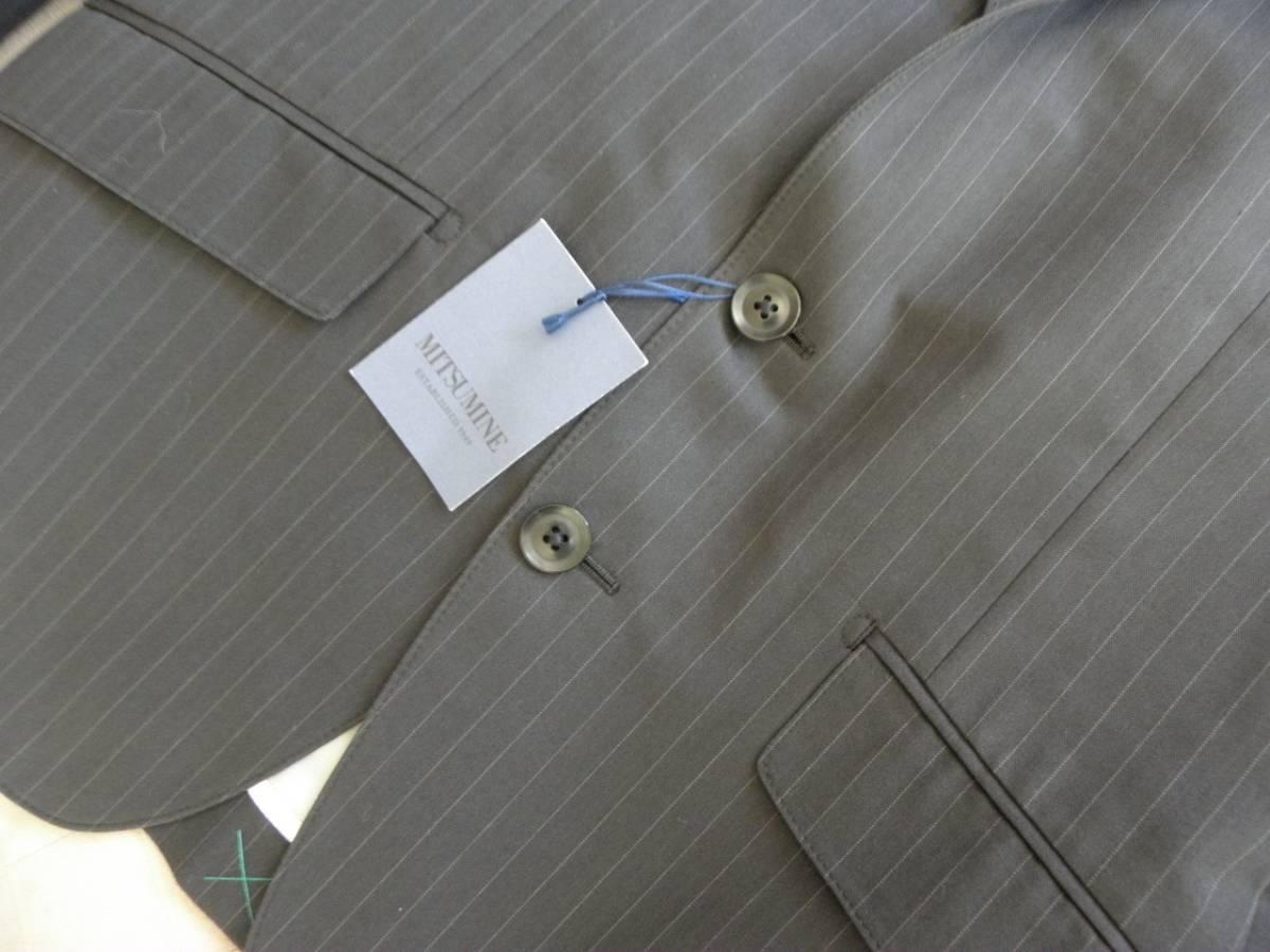 912 ミツミネ 黒のジャケット 細いストライプ 31500円★新品タグ付き M _画像2