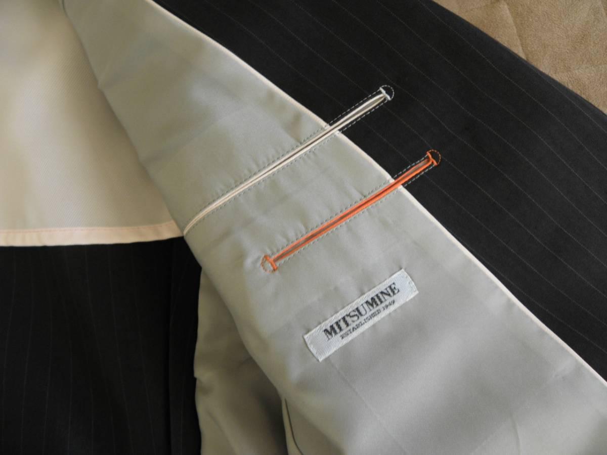 912 ミツミネ 黒のジャケット 細いストライプ 31500円★新品タグ付き M _画像6