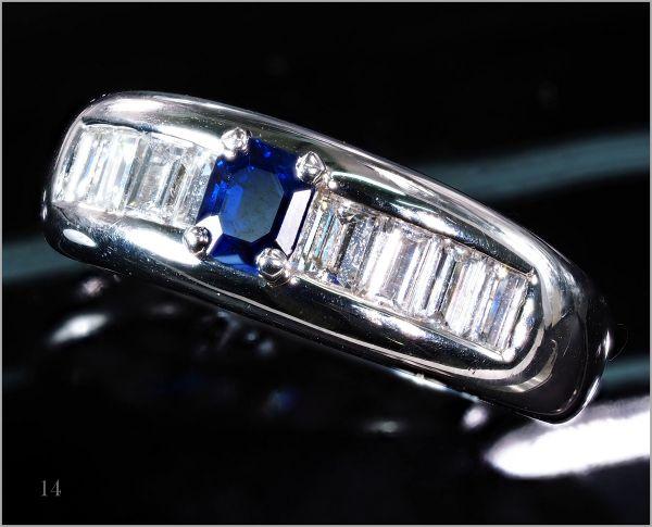 【厳選】【定価90万】 ダイヤモンド サファイア リング 指輪 重量感有 刻印有《限定1点》