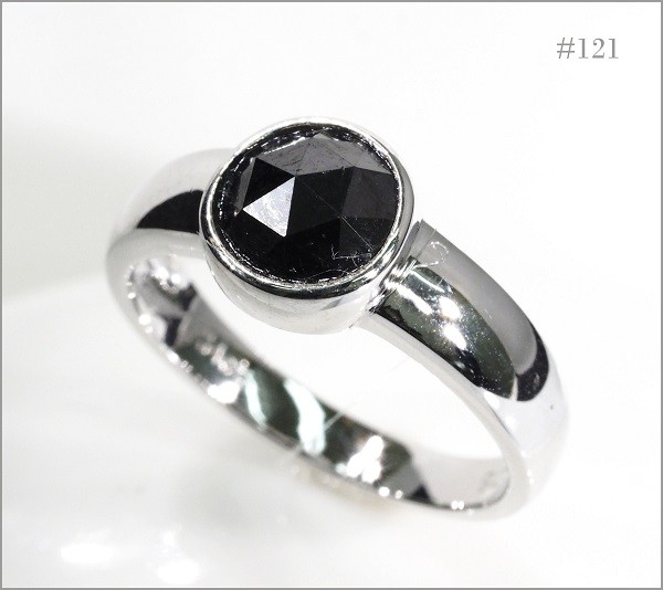 【厳選】【定価90万】大粒 ブラック ダイヤモンド リング 指輪 《限定1点》 [1.87ct] PT900 NO121 18金 18K 【返品対応可】