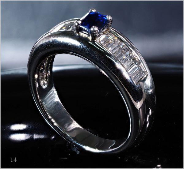 【厳選】【定価90万】 ダイヤモンド サファイア リング 指輪 重量感有 刻印有《限定1点》 [1.15ct] PT900 No.14 プラチナ【返品対応可】