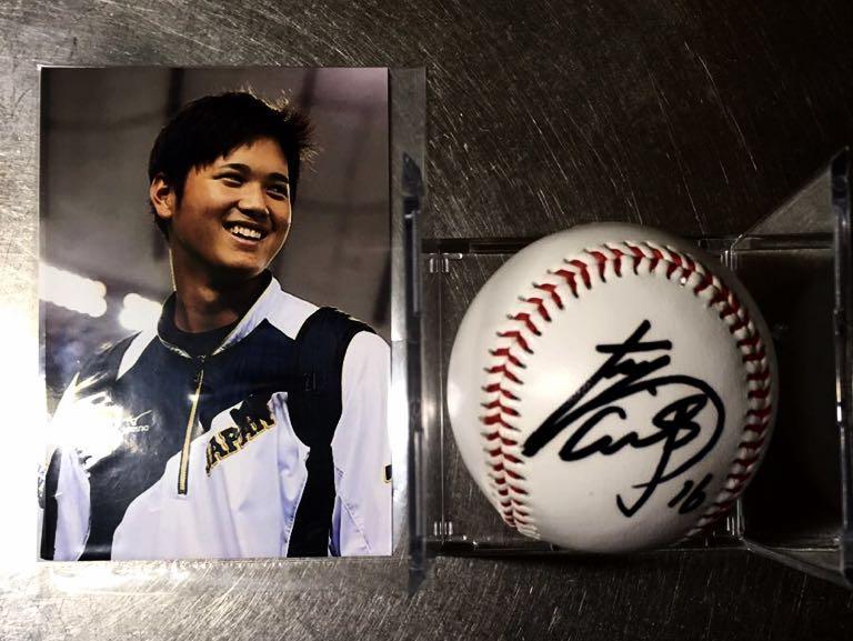 2015 WBSC 日本代表 大谷翔平選手直筆サインボール、写真セット
