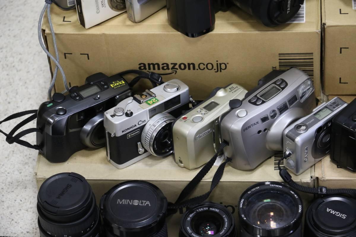 ジャンク カメラ レンズ 多数 ニコン キヤノン ミノルタ デジカメ 一眼レフ ストロボ 即決なら年末年始も発送できます。_画像4