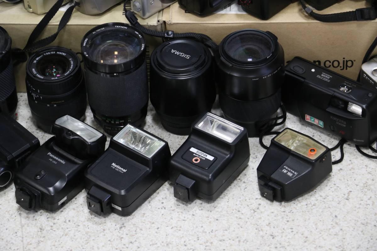 ジャンク カメラ レンズ 多数 ニコン キヤノン ミノルタ デジカメ 一眼レフ ストロボ 即決なら年末年始も発送できます。_画像8