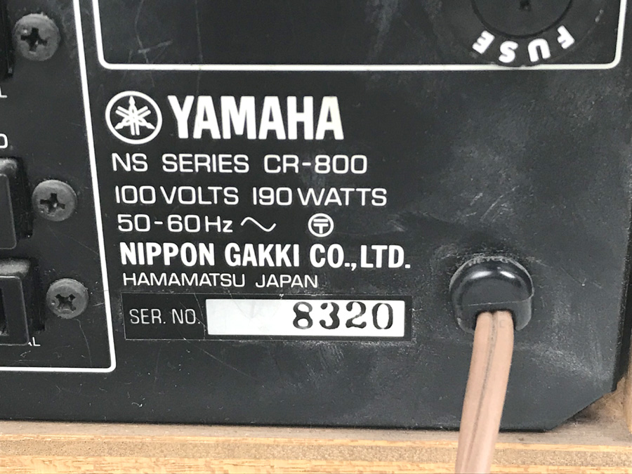送料無料1円~♪ YAMAHA ステレオレシーバー CR-800 ヤマハ ナチュラルサウンド ジャンク 1205-1_画像4