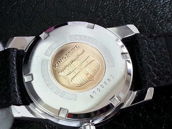 大野時計店 キングセイコー 44-9990 手巻 1966年7月製造 盾メダル 希少_画像5