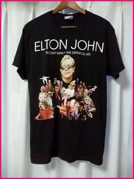 2011 【ELTON JOHN】 USA ツアーTシャツ L/エルトンジョン ロックTシャツ ROCKET MAN