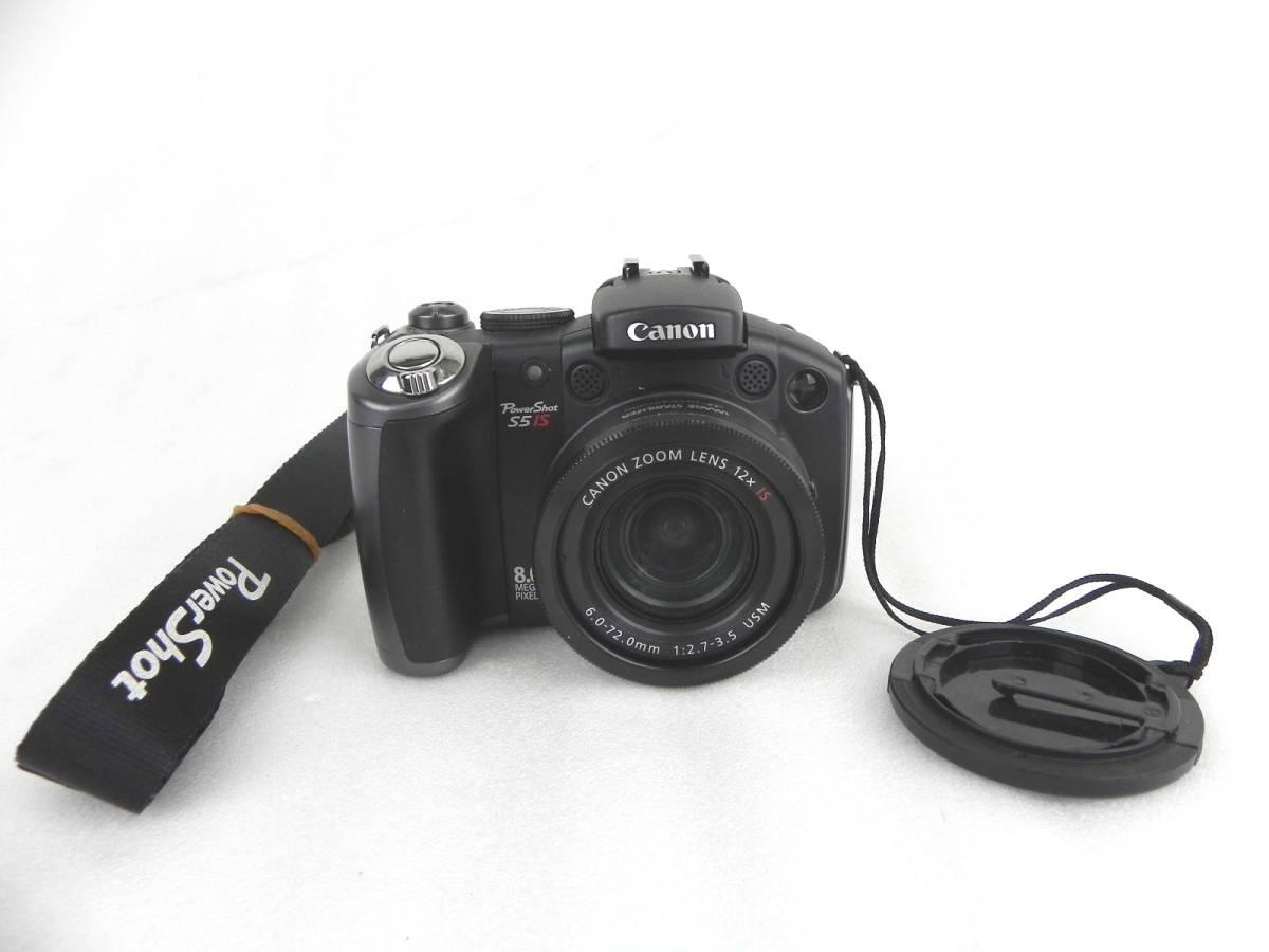 [Q127]Canon/キャノン デジカメ PowerShot S5 IS 単三電池 パワーショット