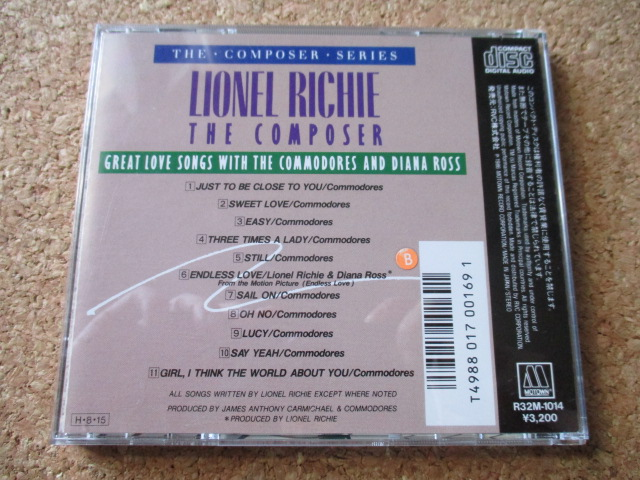 Lionel Richie:The Composer/Great Love Songs With The Commodores & Diana Ross ライオネル・リッチーWithコモドアーズ&ダイアナ・ロス♪_画像2