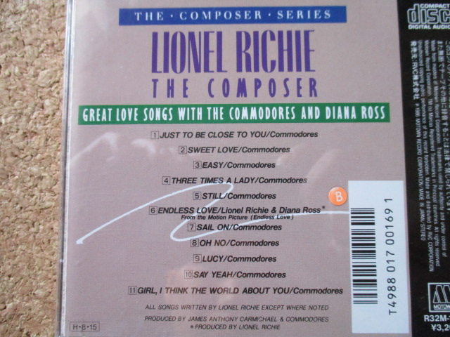 Lionel Richie:The Composer/Great Love Songs With The Commodores & Diana Ross ライオネル・リッチーWithコモドアーズ&ダイアナ・ロス♪_画像3