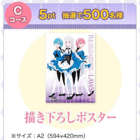 超激レア☆500名様限定当選品☆ローソン Re:ゼロ から始める異世界生活 キャンペーン Cコ