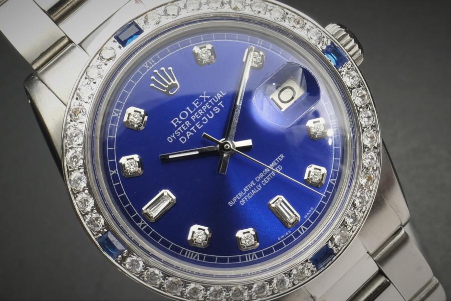 美品ロレックス デイトジャスト 当時ボックス ブルー ダイアル 10P Rolex Datejust BULE