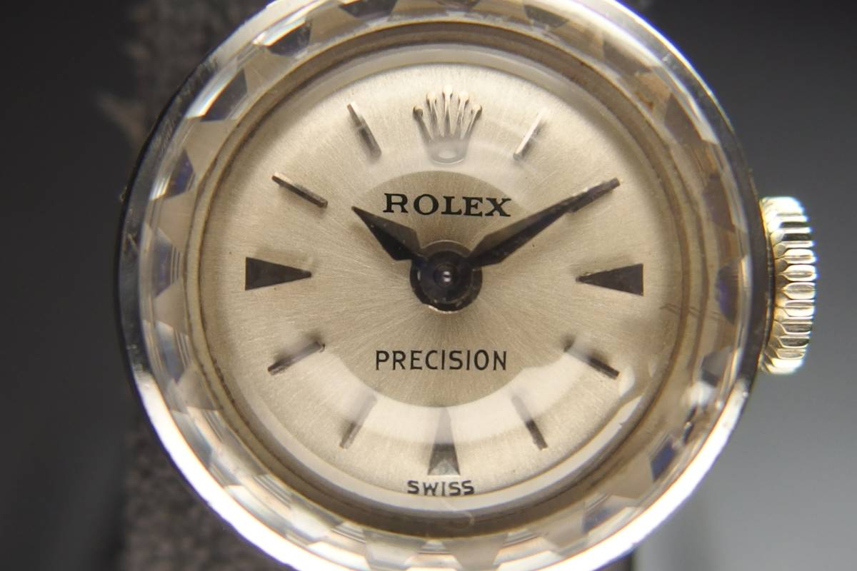 ROLEX ロレックス PRECISION プレシジョン SWISS WG ホワイトゴールド 手巻き ラウンド レディース 腕時計 美品 _画像2