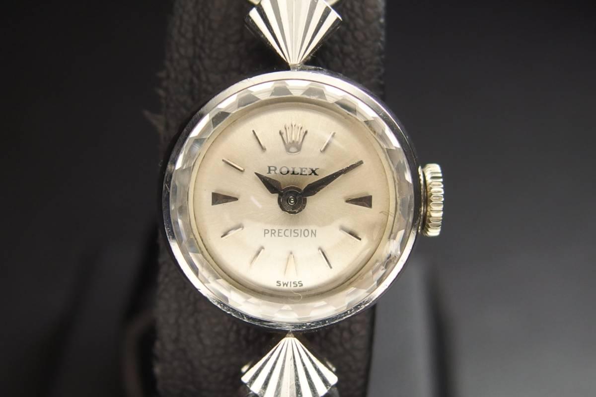 ROLEX ロレックス PRECISION プレシジョン SWISS WG ホワイトゴールド 手巻き ラウンド レディース 腕時計 美品
