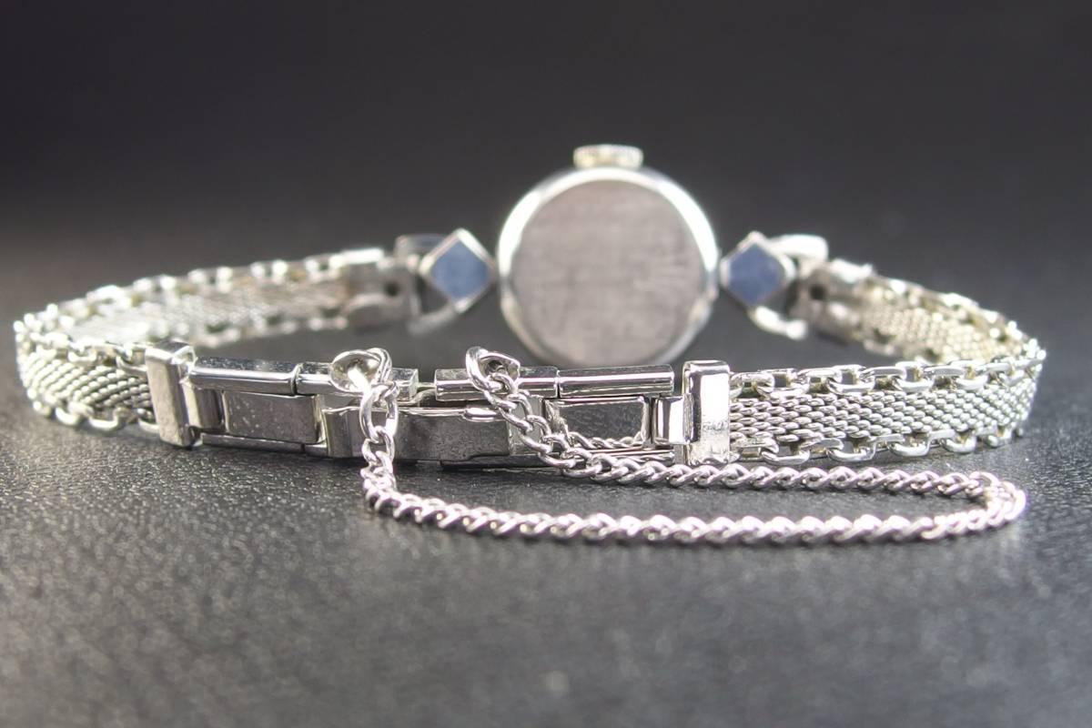 ROLEX ロレックス PRECISION プレシジョン SWISS WG ホワイトゴールド 手巻き ラウンド レディース 腕時計 美品 _画像8