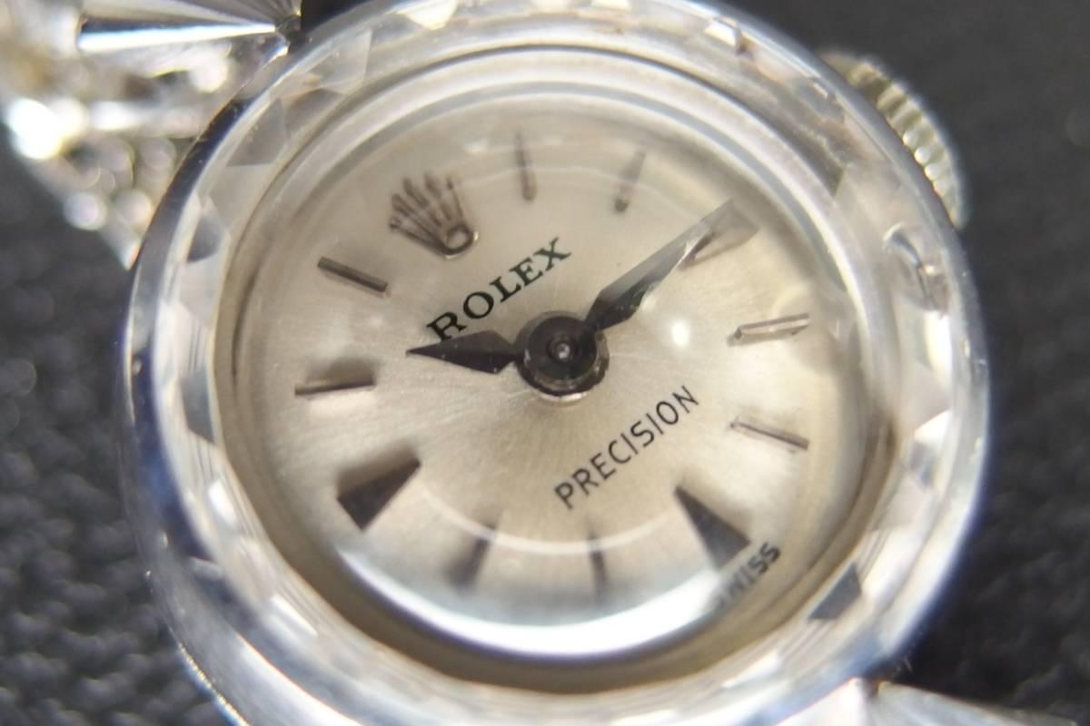 ROLEX ロレックス PRECISION プレシジョン SWISS WG ホワイトゴールド 手巻き ラウンド レディース 腕時計 美品 _画像5