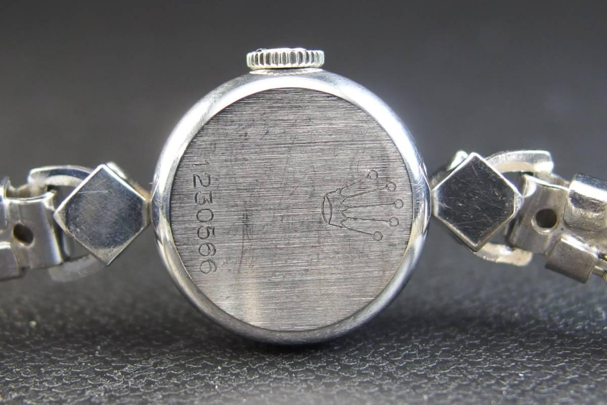 ROLEX ロレックス PRECISION プレシジョン SWISS WG ホワイトゴールド 手巻き ラウンド レディース 腕時計 美品 _画像9