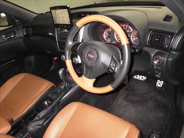 インプレッサ 5HB 4WD WRX STI A H23年 車検H30/6迄 HDDナビ フルセグ Bモニター ETC スマートキー キセノン クルコン 革シート 鑑定済み_画像5