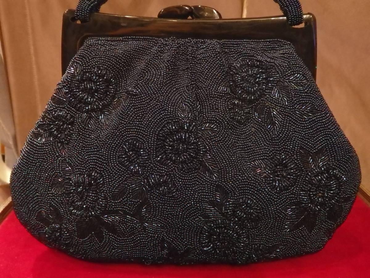 昭和ヴィンテージ60's70'sビーズバッグ薔薇着物和装フォーマルパーティー50'sレトロΓOT_画像2