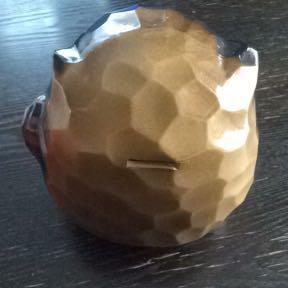 縁起物 陶器 達磨 貯金箱 約18cm_画像4