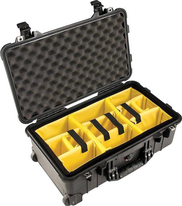 PELICAN ペリカン ハードケース 1514 ディバイダータイプ 22L ブラック カメラケース 1510-004-110 機内持ち込み_画像3