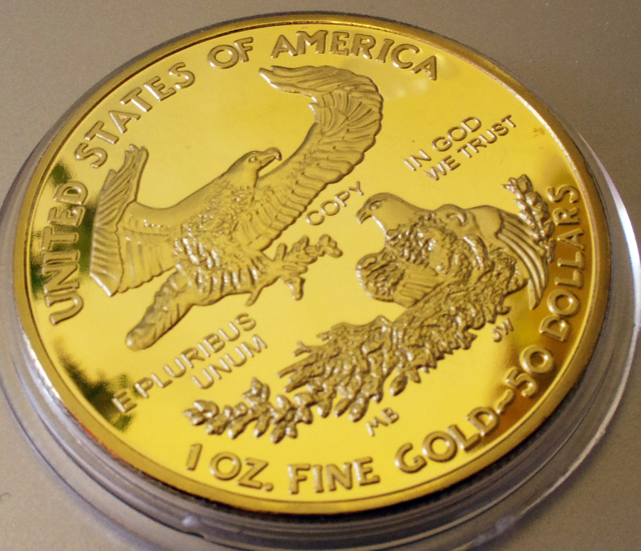 アメリカ 50ドル金貨 24金メッキレプリカ コイン 2013年 リバティ 1oz 1オンス 金貨_画像4