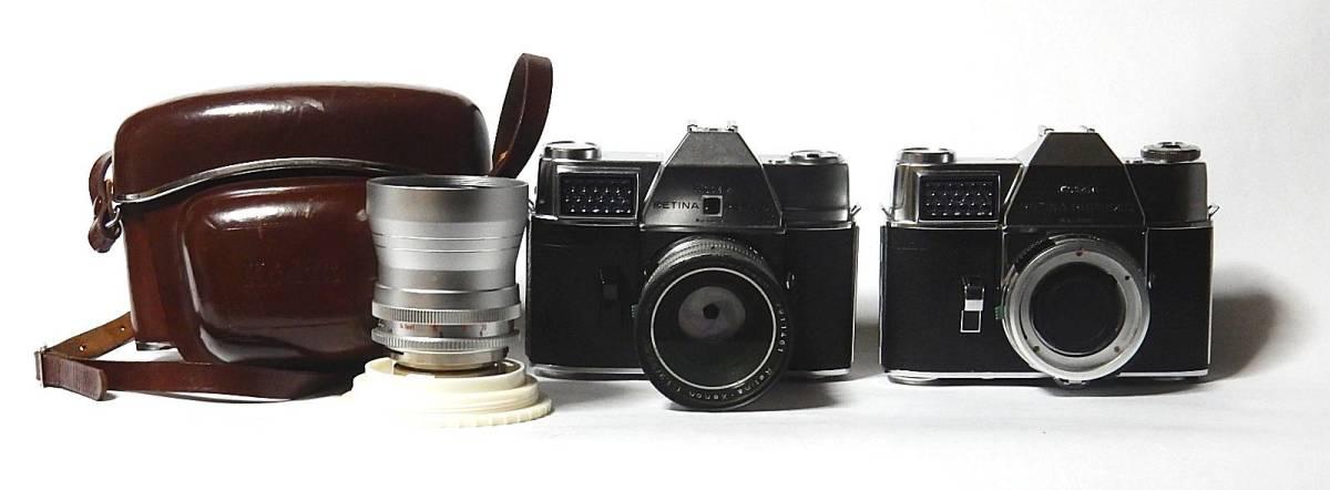 コダック レチナレフレックスⅣ KODAK RETINA REFLEX Ⅳ クセノン50mm 1.9、テレクセナ135mm F4 皮ケース付 きれいな動作品  おまけ付き