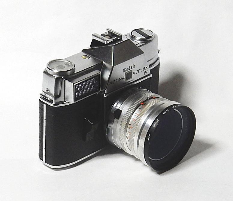 コダック レチナレフレックスⅣ KODAK RETINA REFLEX Ⅳ クセノン50mm 1.9、テレクセナ135mm F4 皮ケース付 きれいな動作品  おまけ付き_画像3